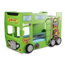 Inlea4Fun detská poschodová postieľka Happy Bus Preview
