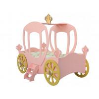 Detská postieľka princeznovský koč Inlea4Fun - ružový