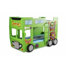 Detská poschodová postieľka Inlea4Fun Happy Bus zelená Preview
