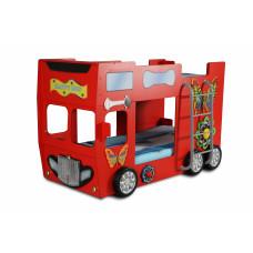 Detská poschodová postieľka Inlea4Fun Happy Bus - červená Preview