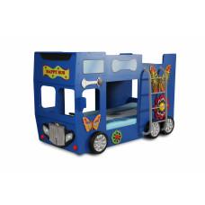 Detská poschodová postieľka Inlea4Fun Happy Bus - modrá Preview