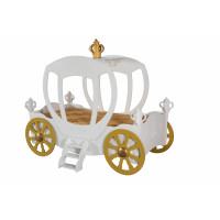 Detská postieľka princeznovský koč Inlea4Fun - biely