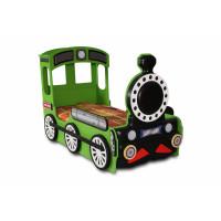 Detská postieľka Lokomotíva Inlea4fun - zelená