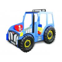 Detská postieľka Traktor Inlea4Fun -modrá