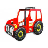 Detská postieľka Traktor  Inlea4Fun -červená