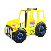 Detská postieľka Traktor Inlea4Fun -žltá