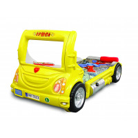 Detská postieľka Inlea4Fun Truck - žltá