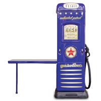 Inlea4Fun skriňa so stolíkom Čerpacia stanica modrá