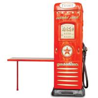 Inlea4Fun skriňa so stolíkom Čerpacia stanica červená