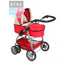 Multifunkčný kočík pre bábiky PlayTo Jasmínka červený Preview