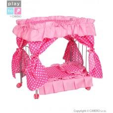 Postieľka s nebesami pre bábiky PlayTo  Amálka svetlo ružová Preview