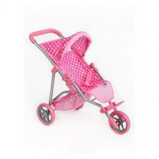 Športový kočík pre bábiky PlayTo Olivie - svetlo ružový Preview
