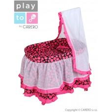 Košík pre bábiky PlayTo Nikolka ružový Preview