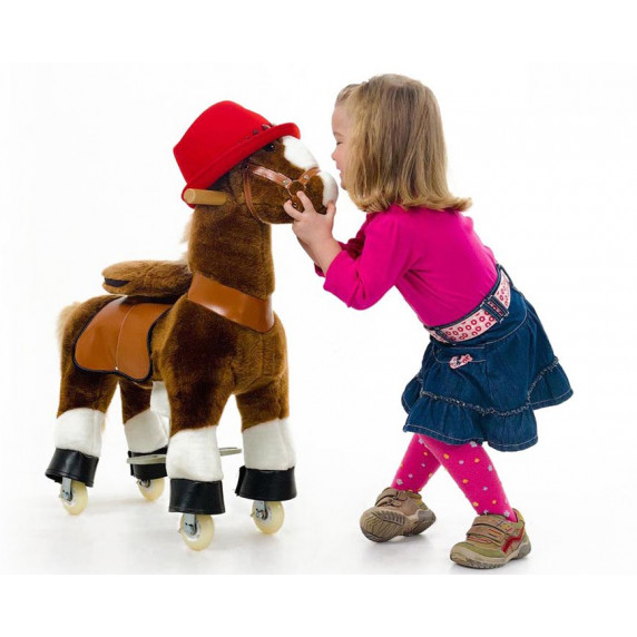 PonyCycle poník hnedý flakatý - Malý