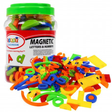 Inlea4Fun Magnetické písmená a čísielká 128 kusov Preview