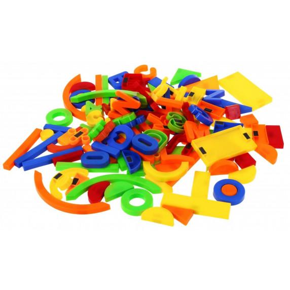 Inlea4Fun Magnetické písmená a čísielká 128 kusov