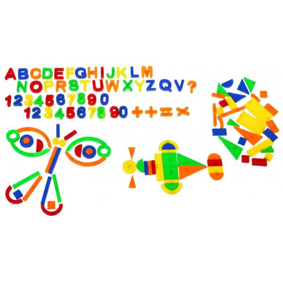 Inlea4Fun Magnetické písmená a čísielka 128 kusov