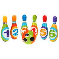 Inlea4Fun BOWLING SET Farebný detský bowling