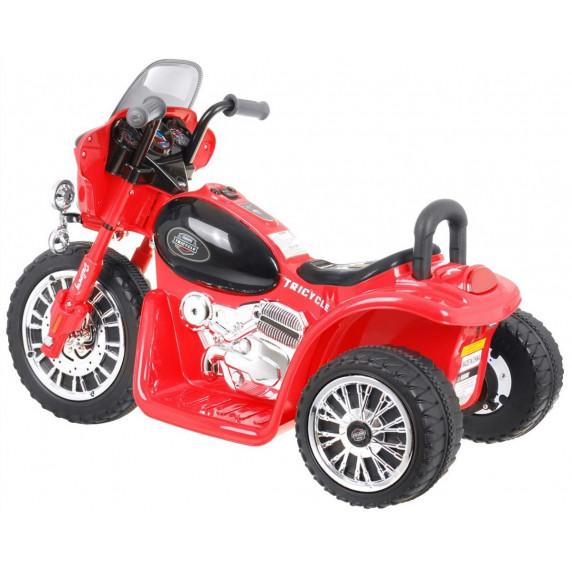 Detská elektrická trojkolka Chopper - červená