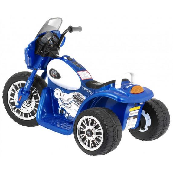 Detská elektrická trojkolka Chopper - modrá