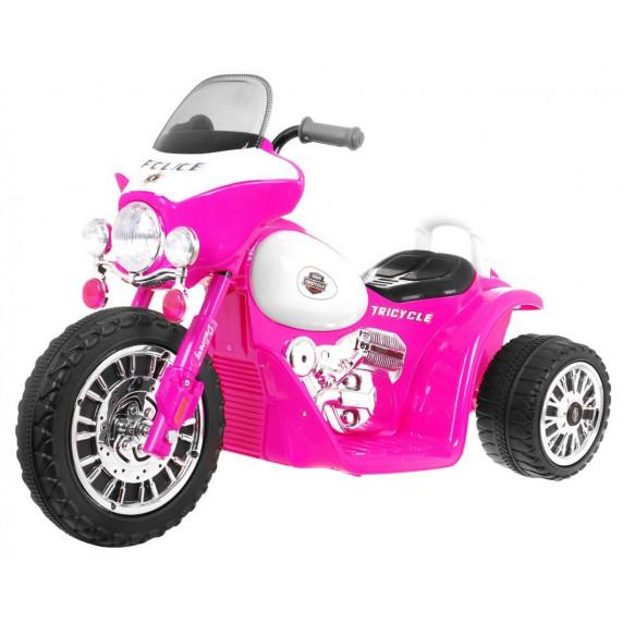 Detská elektrická trojkolka Chopper - ružová