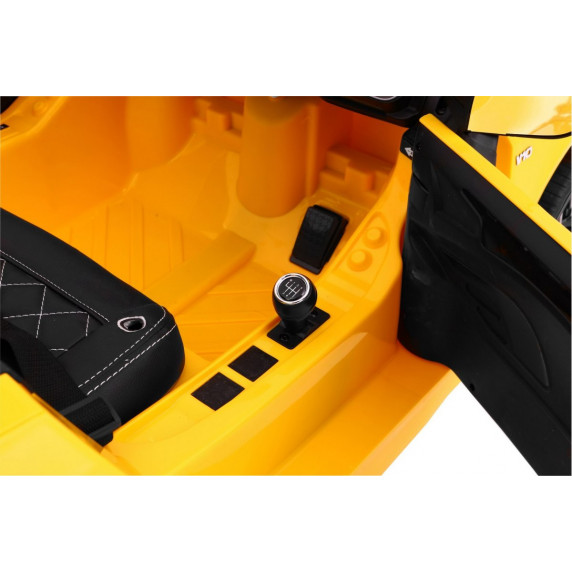 AUDI R8 Spyder 2.4G EVA elektrické autíčko - Žlté