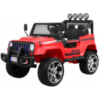 Inlea4Fun Elektrické autíčko RAPTOR DRIFTER Drive 4X4 - červené