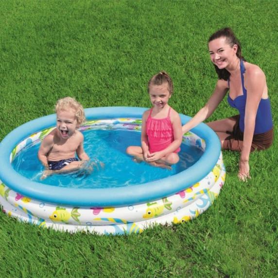 BESTWAY detský bazén Rybičky 122 x 25 cm 51009
