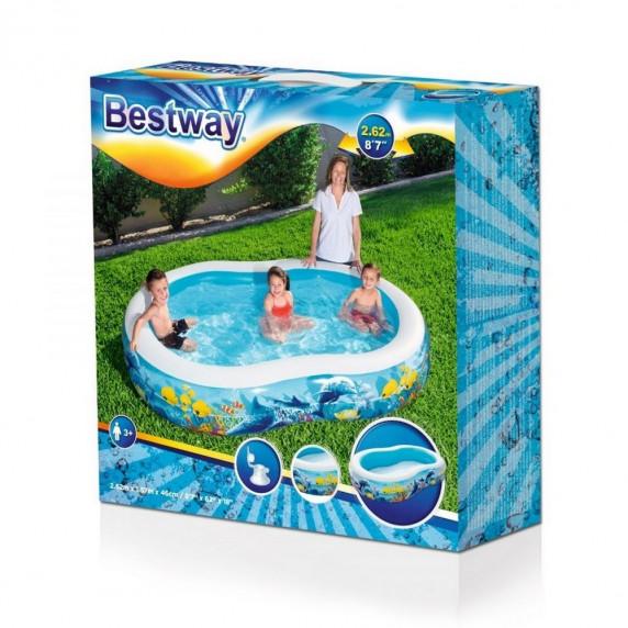 BESTWAY detský bazén Morská lagúna 262 x 157 x 46 cm 54118