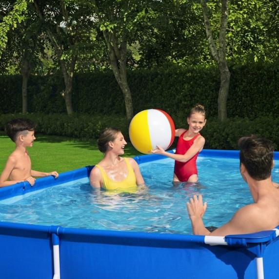 BESTWAY Steel Pro Frame rodinný bazén 400 x 211 x 81 cm + kartušová filtrácia 56424