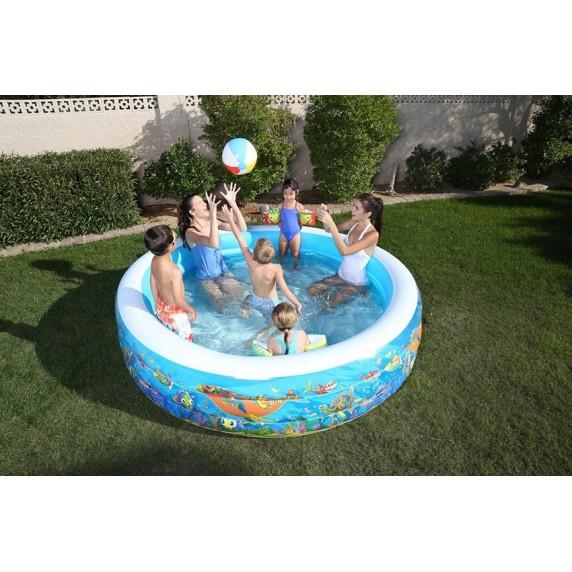 BESTWAY Detský nafukovací bazén podmorský svet