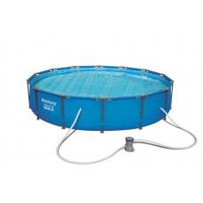 BESTWAY Steel Pro Frame rodinný bazén 427 x 84 cm + kartušová filtrácia 56595 Preview