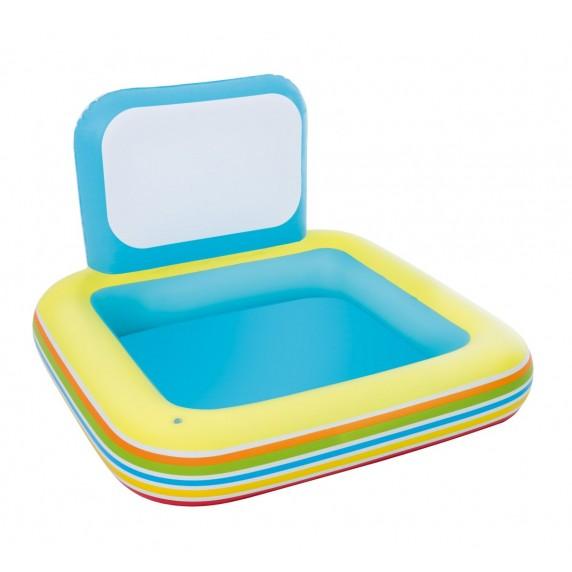 BESTWAY detský bazén s tabuľou 127 x 127 x 84 cm 52212