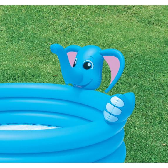 BESTWAY detský bazén Sloník so sprchou 152 x 74 cm 53048
