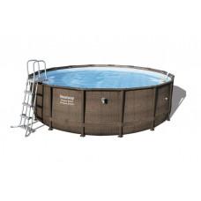 BESTWAY Power Steel rodinný bazén RATTAN 488 x 122 cm + vodný filter a schodíky - 56666 Preview