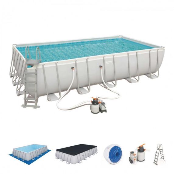 BESTWAY Power Steel rodinný bazén 671 x 366 x 132 cm + piesková filtrácia - 56471