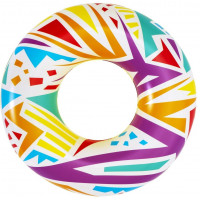 Nafukovacie koleso Geometrické tvary 107 cm Bestway 36228 - biele