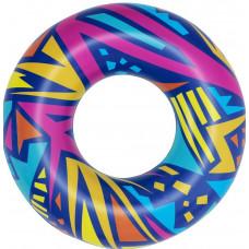 Nafukovacie koleso Geometrické tvary 107 cm Bestway 36228 - modré