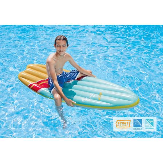 Nafukovacie lehátko 178 x 69 cm INTEX SURFS UP - modré/žlté