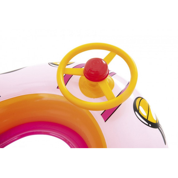 Nafukovací čln autíčko BESTWAY - ružový