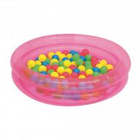 BESTWAY detský bazén s loptičkami ružový 51085