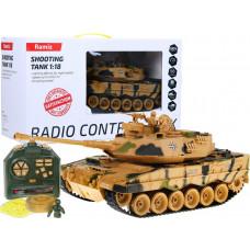 RC Tank Leopard II pieskový kamuflaž 1:18