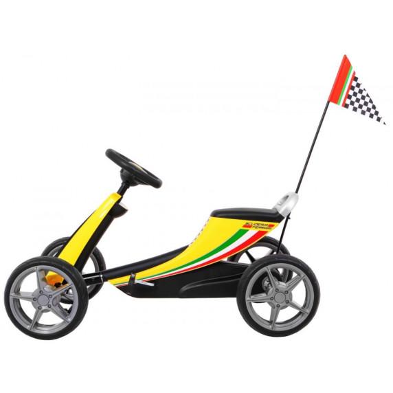 Gokart s pedálmi FERRARI Inlea4Fun - žltý
