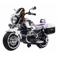 Detská elektrická motorka 1200CR Inlea4Fun SUPER MOTO - biela