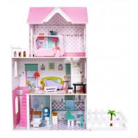 Inlea4Fun Drevený domček pre bábiky LOLA