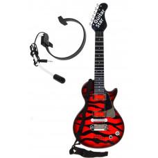Inlea4Fun ELECTRIC GUITAR Elektrická gitara s mikrofónom - červená Preview