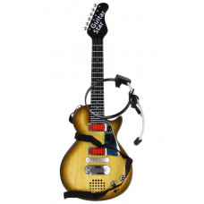 Inlea4Fun ELECTRIC GUITAR Elektrická gitara s mikrofónom - drevená Preview