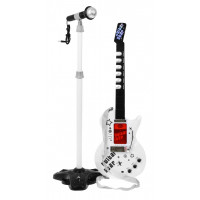 Elektrická gitara s mikrofónom Inlea4Fun GUITAR STAR - biela
