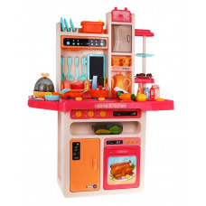 Inlea4Fun MODERN KITCHEN detská kuchynka so 65 doplnkami - červená Preview