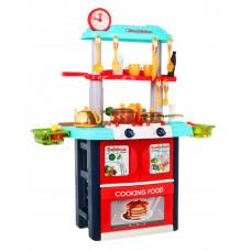 Detská kuchynka so 61 doplnkami Inlea4Fun TWO SIDED - červená/tyrkysová Preview